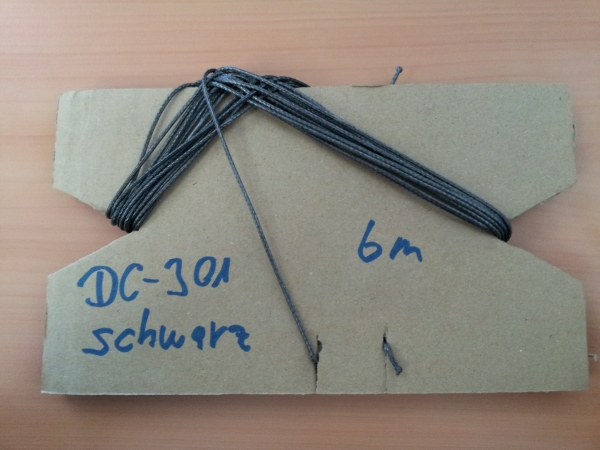 LIROS DC 301 PRO KITELEINE 6m Schwarz