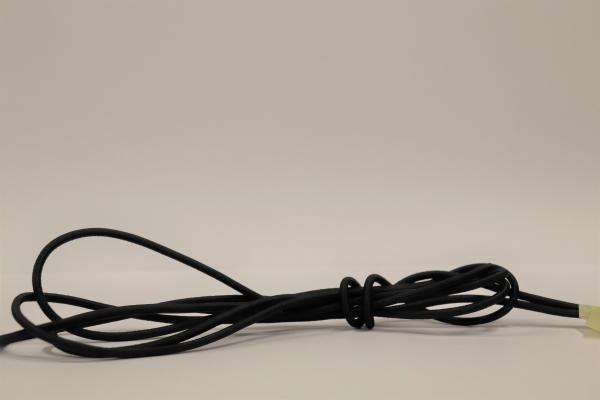 LIROS Gummiseil 4mm Restposten: Schwarz 2,7m